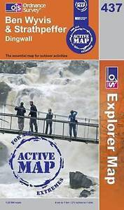 Ben Wyvis and Strathpeffer- OS Explorer ACTIVE Map 437(NEW 2007 folded sheet map
