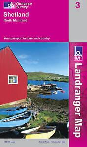 OS Landranger Map 3: Shetland - North Mainland (9780319228098) NEW