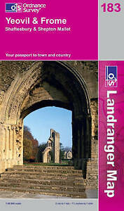 Yeovil and Frome (Landranger Maps) 183 (OS Landranger Map)-ExLibrary