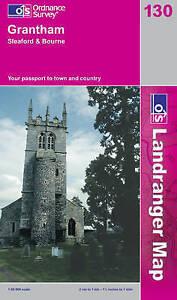 Grantham, Sleaford and Bourne (OS Landranger Map)-ExLibrary