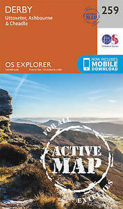 Ordnance Survey-Derby, Uttoxeter, Ashbourne And Cheadle  AC NEW