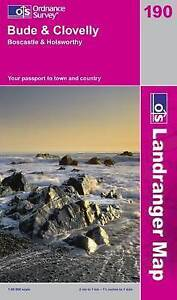 Bude and Clovelly, Boscastle and Holsworthy (OS Landranger Map), Good Condition