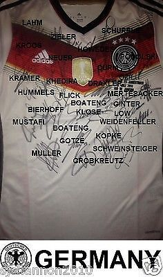 Germany's World Cup-winning side all signed this shirt