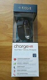 Brand New FitBit Charge HR - Size Large / Black