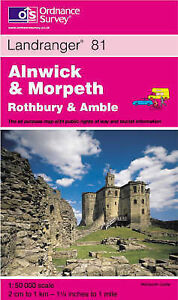 Alnwick and Morpeth, Rothbury and Amble (Landranger Maps), Ordnance Survey, Good