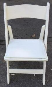 Chaise Martha (Wimbledon), pliante blanche.