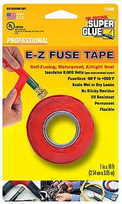 Silicone Tape Red 1-in. X 10-ft.
