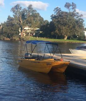 Catamaran Dinghy Stable SAFE Workboat or Family or Fishing Boat