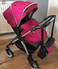 Silver cross pram with bag and car seat