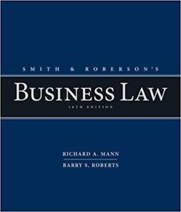 Smith and Robersons Business Law 16th Edition