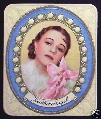 Heather Angel 1934 Garbaty Film Star Series 1 Embossed Cigarette Card #104