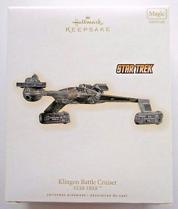 "2009 STAR TREK  ""KLINGON BATTLE CRUISER"" HALLMARK"