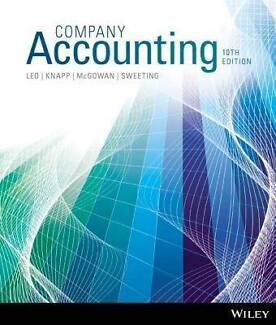 ★ Company Accounting 10th Edition [Solutions Manual] ★