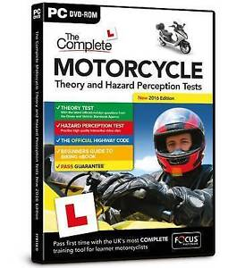 The Complete Motorcycle Theory & Hazard Perception Tests 2016 Ed PC DVD-ROM -New