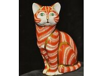 Royal Crown Derby Ginger Tom Cat Paperweight