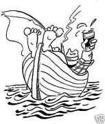 Boat Rubber Stamp