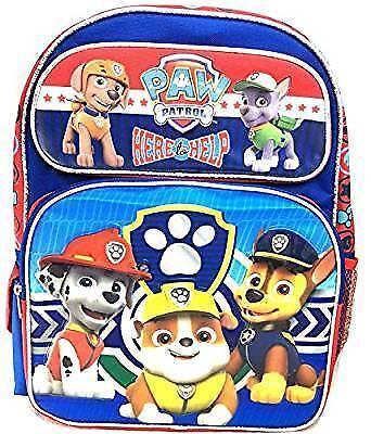 "Backpack - Paw Patrol - Boys Team Blue 16"" School Bag 111168"