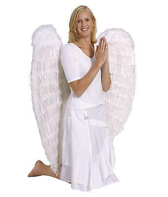 weißer ENGELFLÜGEL120 x 120cm Flügel Engel Weihnachts Kostüm Zubehör - Weiße Engel Flügel Kostüm
