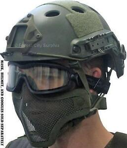 New - AMP TACTICAL U.S. MILITARY STYLE FAST HELMETS WITH ACCESSORY MOUNTING SLOTS - Ideal for Paintball and Airsoft
