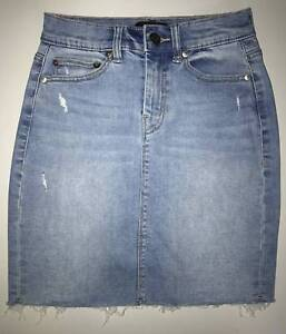 Sportsgirl - Cut Off Denim Mini Skirt Bentley Canning Area Preview