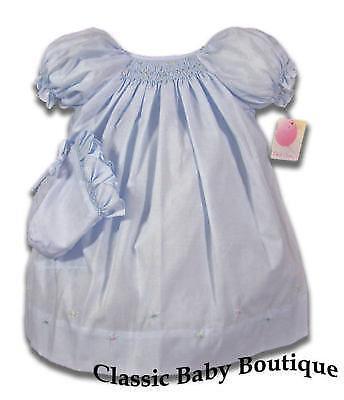 blue smocked baby dress ebay