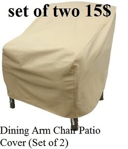 brand new Dining Arm Chair Patio Cover (Set of 2) Kitchener / Waterloo Kitchener Area image 1