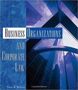 Business Organizations and Corporate Law 1st Edition