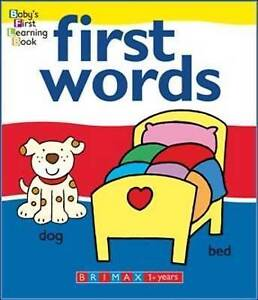 FIRST WORDS Baby's First Learning Board Book Bright Illustrations & Simple Words