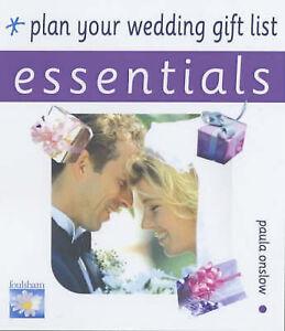 Plan Your Wedding Gift List, Onslow, Paula, New Book