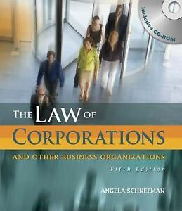 Law-of-Corporations-and-Other-Business-Organizations-by-Schneeman-Angela