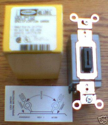New Hubbell Hbl1201l Lock Switch 15 Amp 120-277 Volt