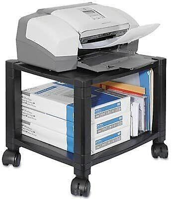 Kantek Mobile Printer Stand Two-shelf 17w X 13-14d X 14-18h Black