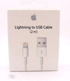 Brand new 2 metre Apple lightning to usb cable iphone ipod ipad 5 s c se 6 s plus 7 plus