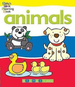 ANIMALS Baby's First Learning Board Book -Bright Illustrations & Simple Words