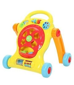 Buzzing Brains Tiny Steps Walker With Shape Sorter Activities