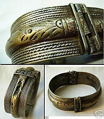 18th century Turkey Otoman Empire silver bracelet