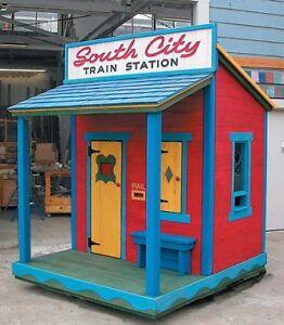 Custom kids playhouses Pirateships sheds and tiny homes