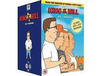 king of the hill seasons 1-5 dvd, never used, not sealed but new