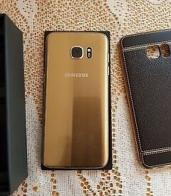 Samsung galaxy s7 edge gold unlocked front glass cracked