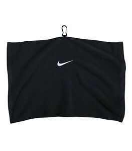 New 2013 Nike Embroidered Tour Towel BLACK w/WHITE 16