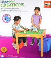 LEGO TABLE WITH 2 STORAGE OTTOMANS NEW IN BOX !!!