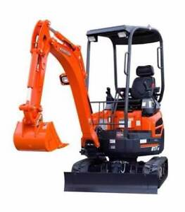Mini Excavator Hire - only $165* a day for New Kubota's.