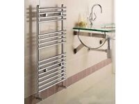 New Designer Chrome Straight heated Towel Rail 900 mm x 450 mm