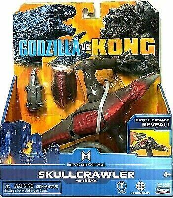 Godzilla vs Kong SKULLCRAWLER w/ HEAV Toho Playmates Toy Movie Monsterverse RARE