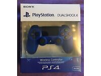 GENUINE SONY DUALSHOCK PS4 V2 WIRELESS CONTROLLER WAVE BLUE BRAND NEW