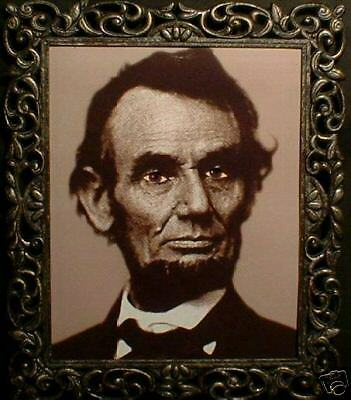 "HAUNTED Abraham Lincoln Photo ""EYES FOLLOW YOU"""