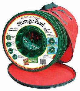 Two large storage bags with reels for garlands or light strands