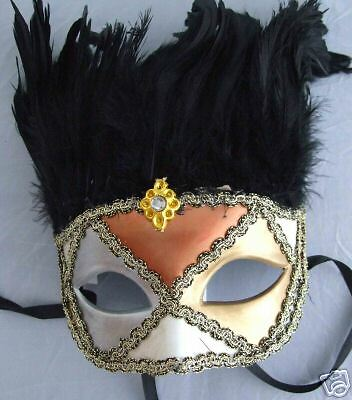 Venetian Mask Domino Papier Mache' Art Party Mardi Gras](Halloween Papier Mache Masks)