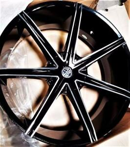 2 COLORS - 22 - 24 WHEELS/TIRES - 5 AND 6 LUGS - RAM f150 chevy 1500 escalade navigator 300 CHARGER GRAND CHEROKEE - 768