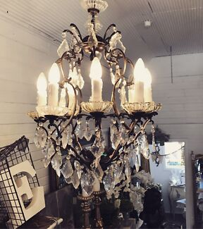 French provincial chandelier ceiling lights gumtree australia genuine french vintage chandelier aloadofball Images